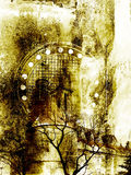 Grungy background. Grungy abstract background - Old church Stock Images