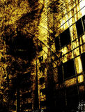 Grungy background. Buildings Stock Photography