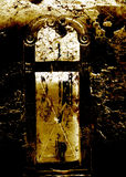 Grungy background. Dark grungy background - Doors Stock Image