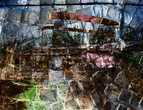Grungy background. Colorful grungy abstract background Stock Photos