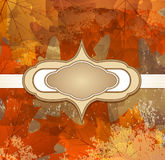 Grungy background autumn congratulatory Royalty Free Stock Photography