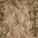 Grungy Background bamboo branches stock illustration
