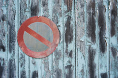 Grungy background no parking sign Stock Photos