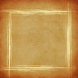 Grungy background with scratched frame. Grungy brown canvas with scratched frame and space for text or picture vector illustration