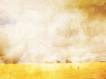 Grungy background with summer landscape Stock Photo