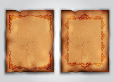 Grungy backgrounds. With ornamented frames, eps10 vector Royalty Free Stock Images