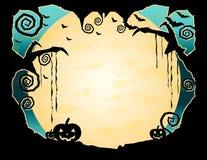 Grungy bakgrund för allhelgonaafton Royaltyfria Bilder