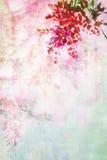 Grungy bakgrund med den blom- gränsen Royaltyfri Bild