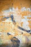 Grungy bakgrund med varma signaler och sorterade texturer Royaltyfri Bild