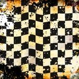 grungy bakgrundsschackbräde Stock Illustrationer