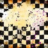 grungy bakgrundsschackbräde Royaltyfri Illustrationer