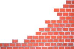 Grungy bakstenen muurframe Stock Afbeelding