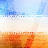 Grungy banner. With damaged filmstrips. eps10 Royalty Free Stock Images