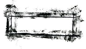 Grungy banner. On white background. XL Stock Photography