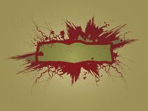 Grungy Banner With Brown Background Royalty Free Stock Photography