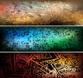 Grungy banners Stock Photography
