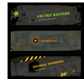Grungy banners. Set of three grungy banners (note: free fonts used for the background: trashed and broken 74 Stock Photo