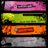 Grungy banners Royalty Free Stock Photos