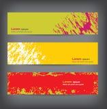 Grungy banners, kleurrijke achtergronden Stock Illustratie