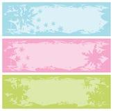 Grungy banners met sneeuwvlokken vector illustratie