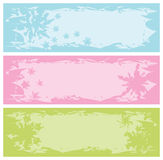 Grungy banners with snowflakes Royalty Free Stock Image