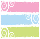 Grungy banners with swirls Royalty Free Stock Photos