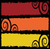 Grungy banners with swirls Stock Photo