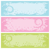 Grungy banners with swirls Royalty Free Stock Image