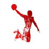 Grungy basketbalspeler vector illustratie