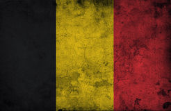 Grungy belgium flag. Cracked wall Stock Photography