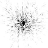 Grungy beschmutzter, geplätscherter flüssiger Farbenradialeffekt Splashe Lizenzfreies Stockbild