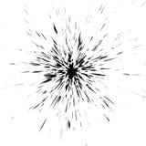 Grungy beschmutzter, geplätscherter flüssiger Farbenradialeffekt Splashe Stockfoto