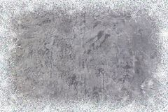 Grungy betongvägg eller golv som bakgrundstextur abstrakt begrepp med snöflingor vita röda stjärnor för abstrakt för bakgrundsjul Arkivbilder