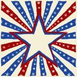 Grungy beunruhigter Stern auf einem Impuls-Hintergrund lizenzfreie abbildung