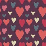 Grungy bezszwowy wektorowy serce wzór Zdjęcie Stock