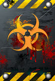 Grungy Biohazard. A grungy, bloody, corroded and scratched biohazard sign Stock Image