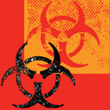 Grungy Biohazard background Stock Photography