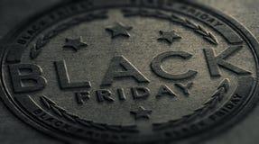 Grungy Black Friday wydarzenia znak Obraz Royalty Free