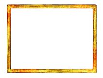 Grungy blank frame with overspray of paint Stock Image