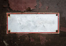 Grungy Blank Street Sign Royalty Free Stock Photography