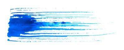 Grungy blauer Pinsel Stockfotografie