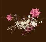 Grungy bloemen Royalty-vrije Stock Foto