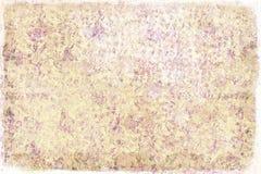Grungy bloemenachtergrond Stock Afbeelding