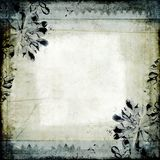 Grungy bloemencollage royalty-vrije illustratie