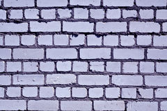 Grungy blue color brick wall pattern. Royalty Free Stock Image