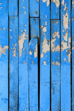 Grungy blue color wooden door panel Stock Image