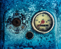 Grungy Blue Moped Speedometer Royalty Free Stock Photos