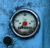 Grungy Blue Odometer Stock Images