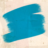 Grungy blue paint Strokes Stock Images