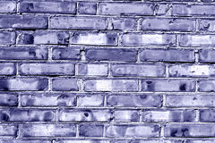 Grungy blue toned brick house wall. Abstract background and textures for design Royalty Free Stock Images